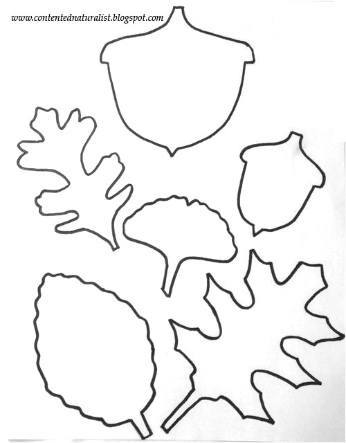 leaf template craft with free printable