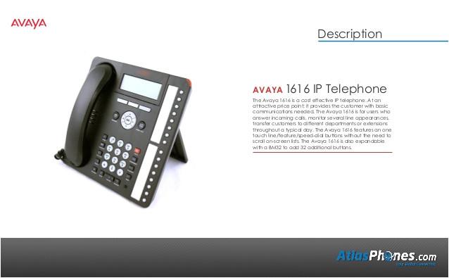 Avaya Phone Template Avaya 1616 Ip Telephone Product Overview