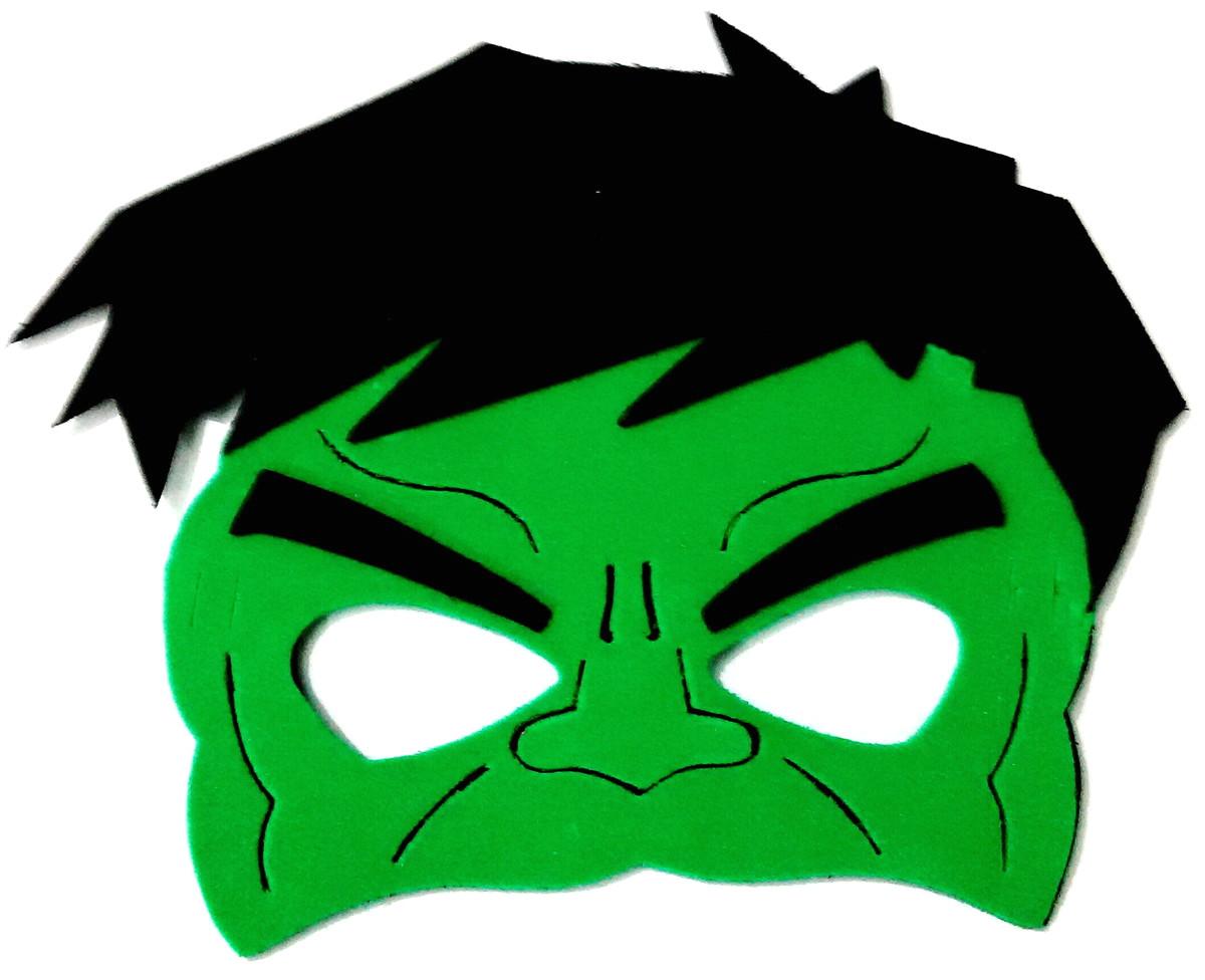 Avengers Mask Template Mascara Eva Hulk Super Herois No Elo7 Art Leo Brindes