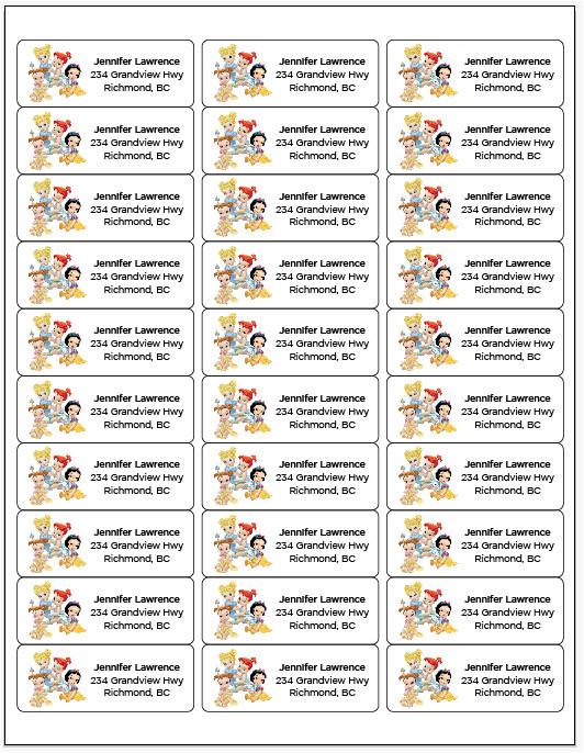 printable return address labels avery 42895 template