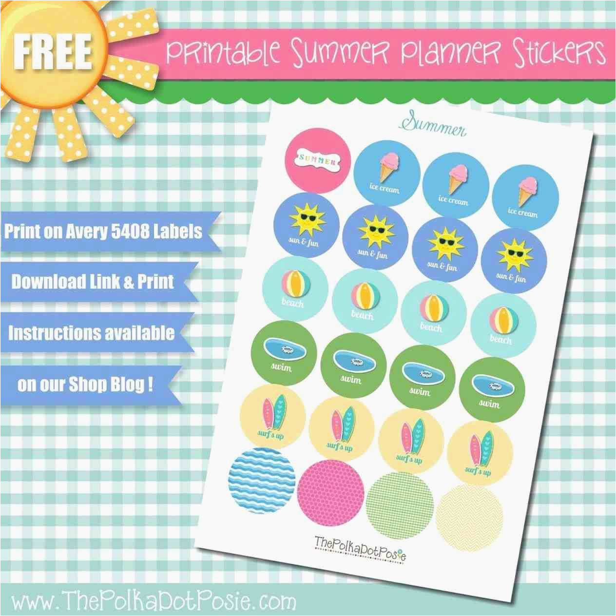 avery planner stickers template