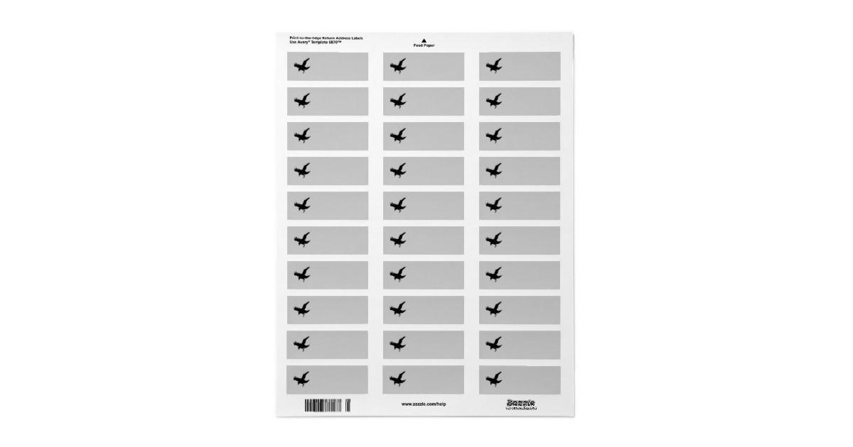 flying raven silhouette return address avery label 106720187015225751