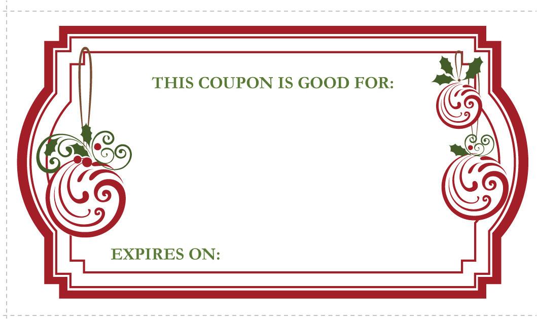 christmas gift coupons printable