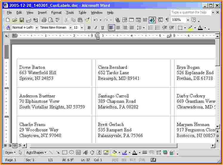 4 avery 5160 template word 2010