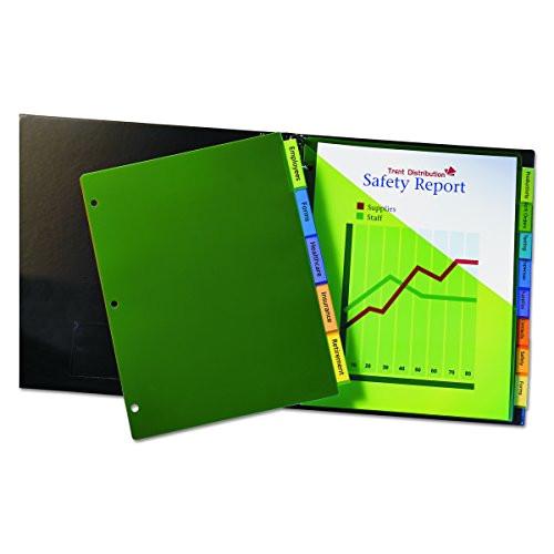 avery 11901 insertable big tab plastic dividers 8tab letter ap b0000aqoh2
