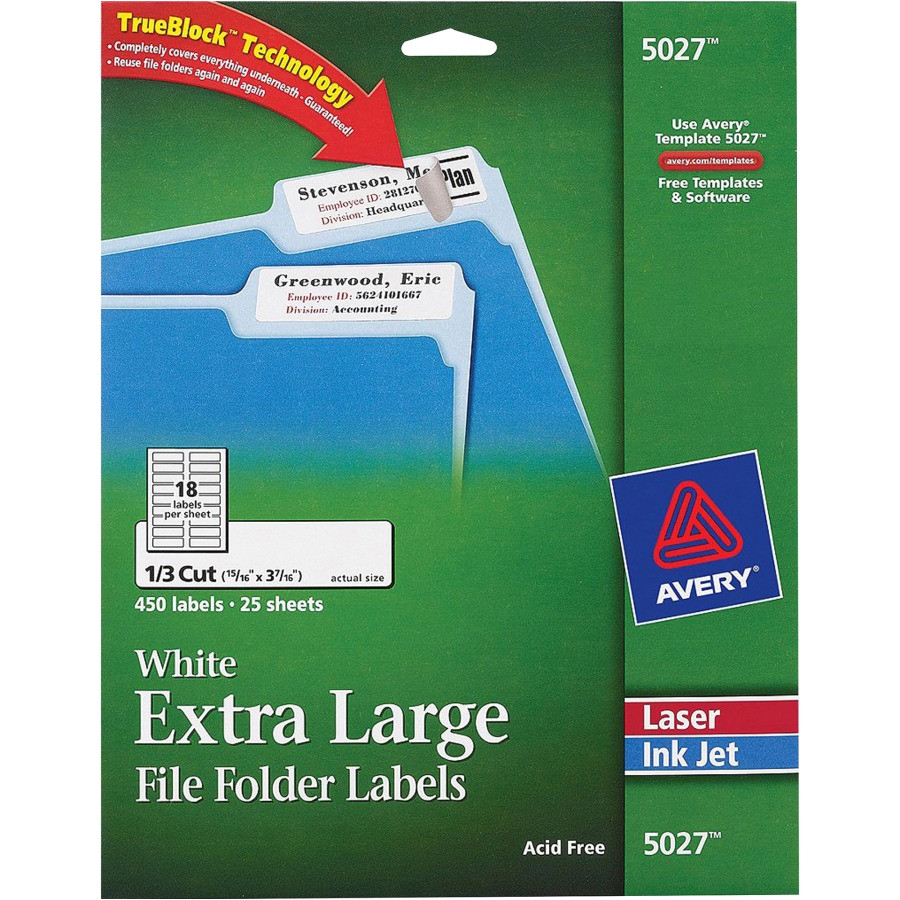 avery permanent extra large file folder labels with trueblock technology ave5027