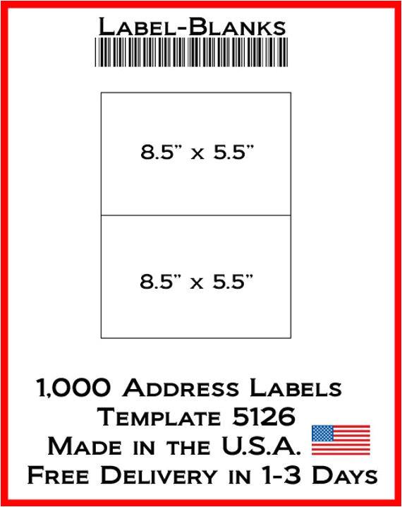 laser ink jet labels 500 sheets 8 12 x 5