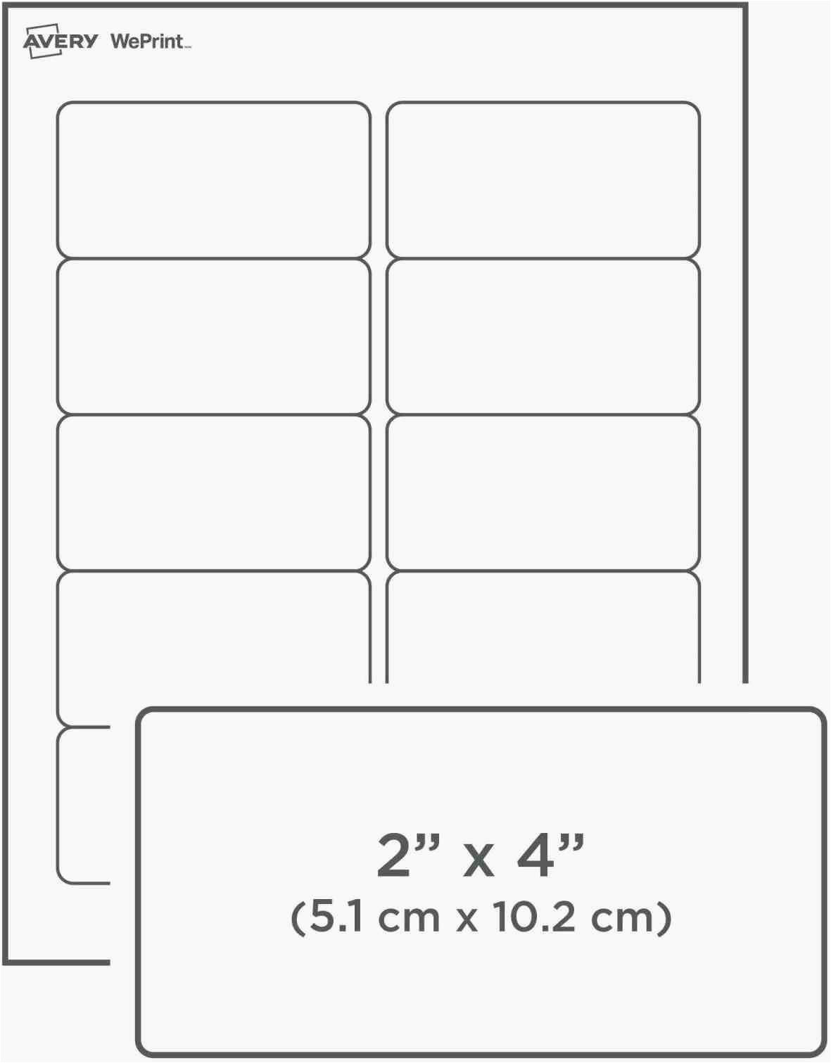 avery 2x4 label template indesign