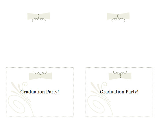 graduation party invitation note card front side works with avery 3268 3379 5315 8315 433