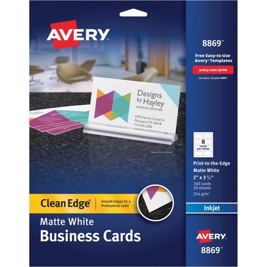 avery inkjet print business card ave8869