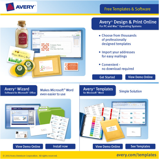 Avery Templates and software software Ui Avery Free Templates software Domestika