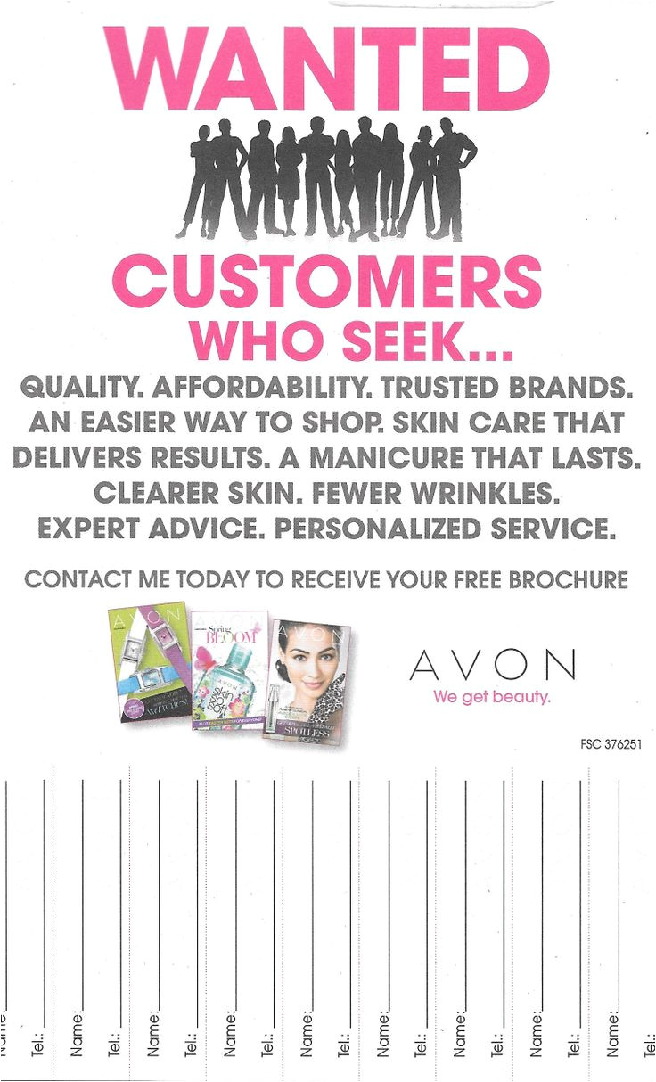 Avon Flyer Template 1000 Images About Avon On Pinterest Open House Days In