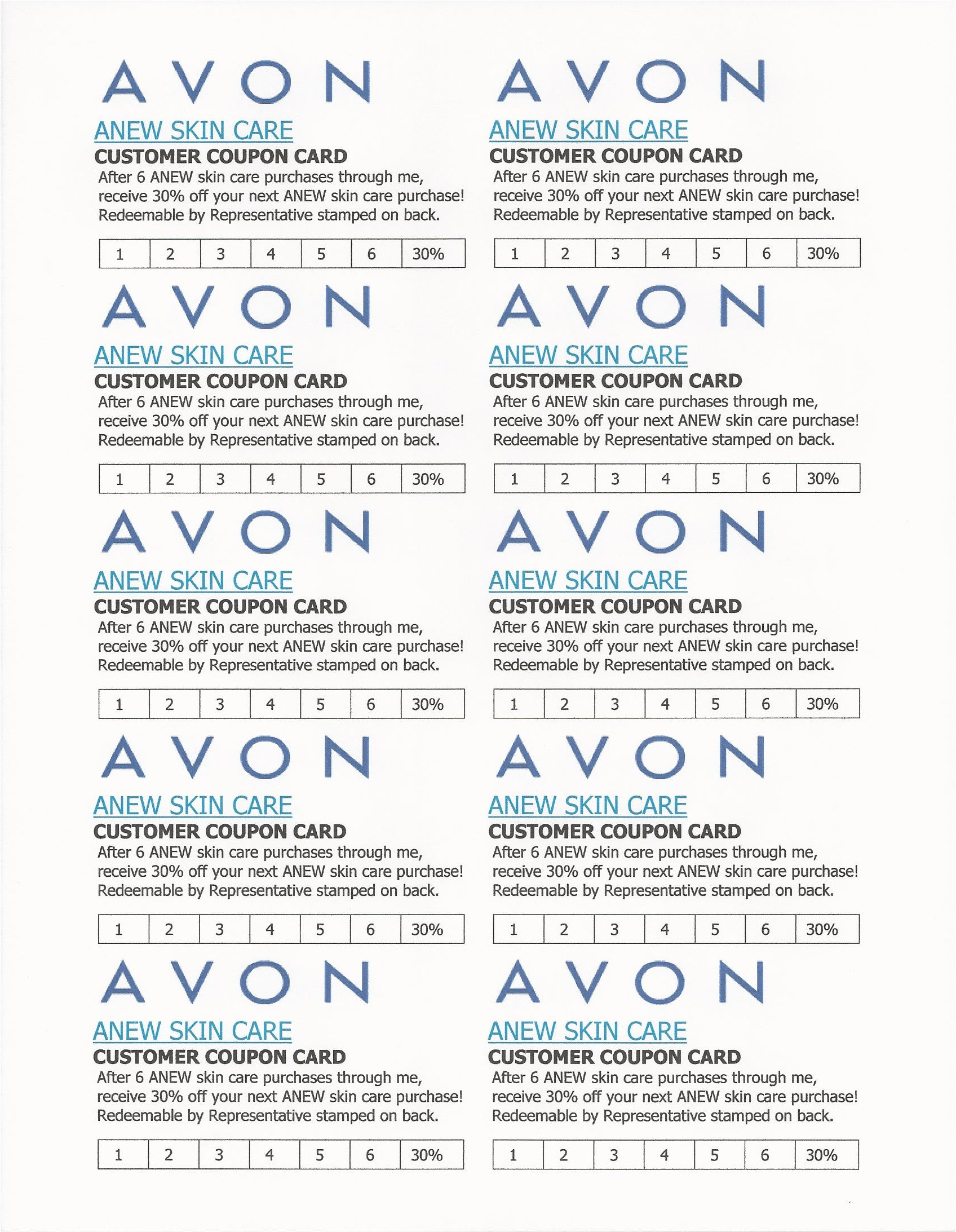 Avon Flyer Template Avon Flyers Charts Avon Beauty