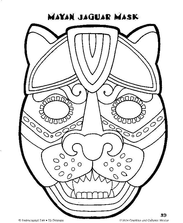 Aztec Mask Template 17 Best Images About Year 3 Mayan Masks Dt topic On