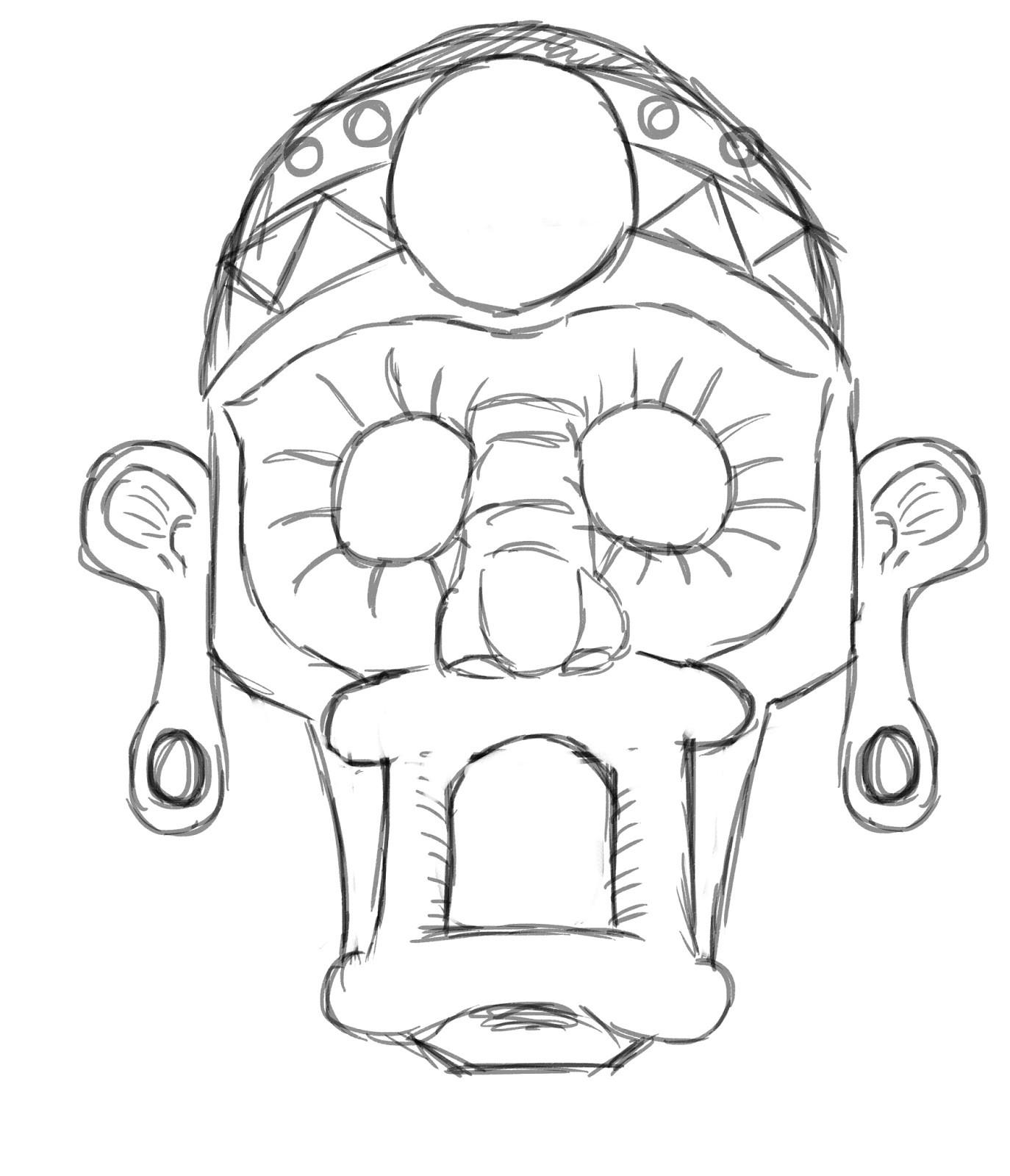 aztec mask template shtml