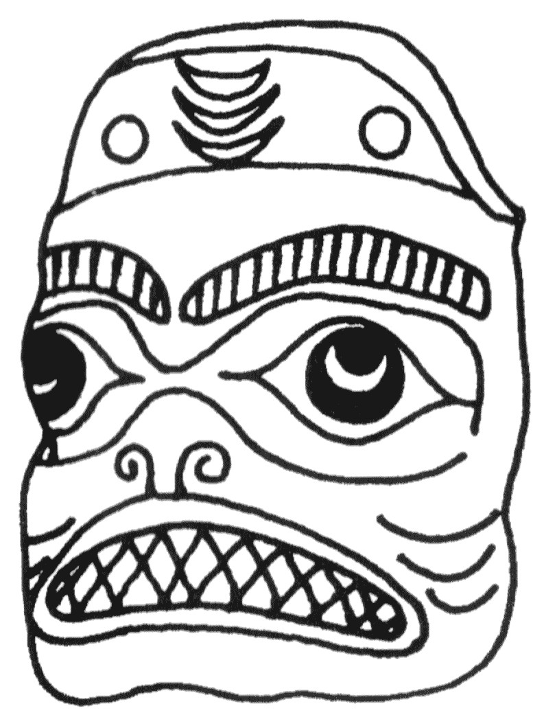 mayan masks template