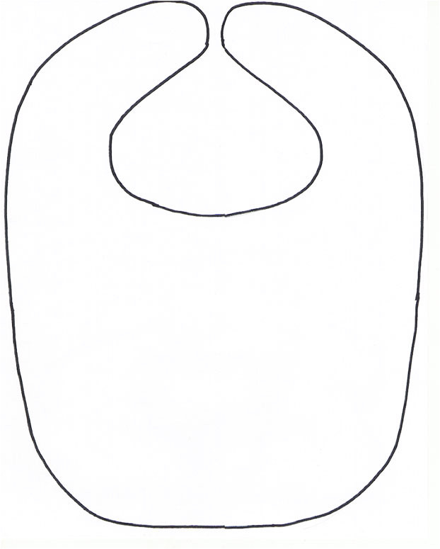 post free pattern baby bib with pacifier template printable 202333