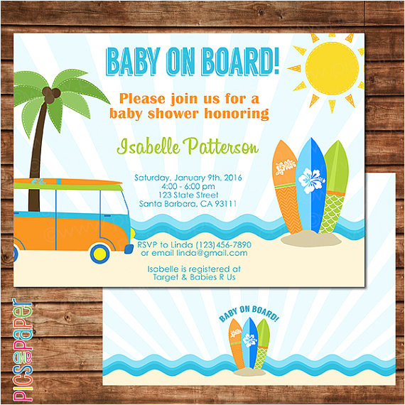 baby on board invitation