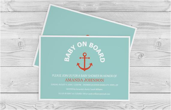 nautical baby on board baby shower ref shop home active 1