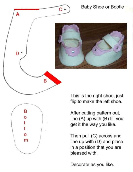 Baby Shower Booties Template How to Make A Gumpaste Baby Shoes Cakecentral Com