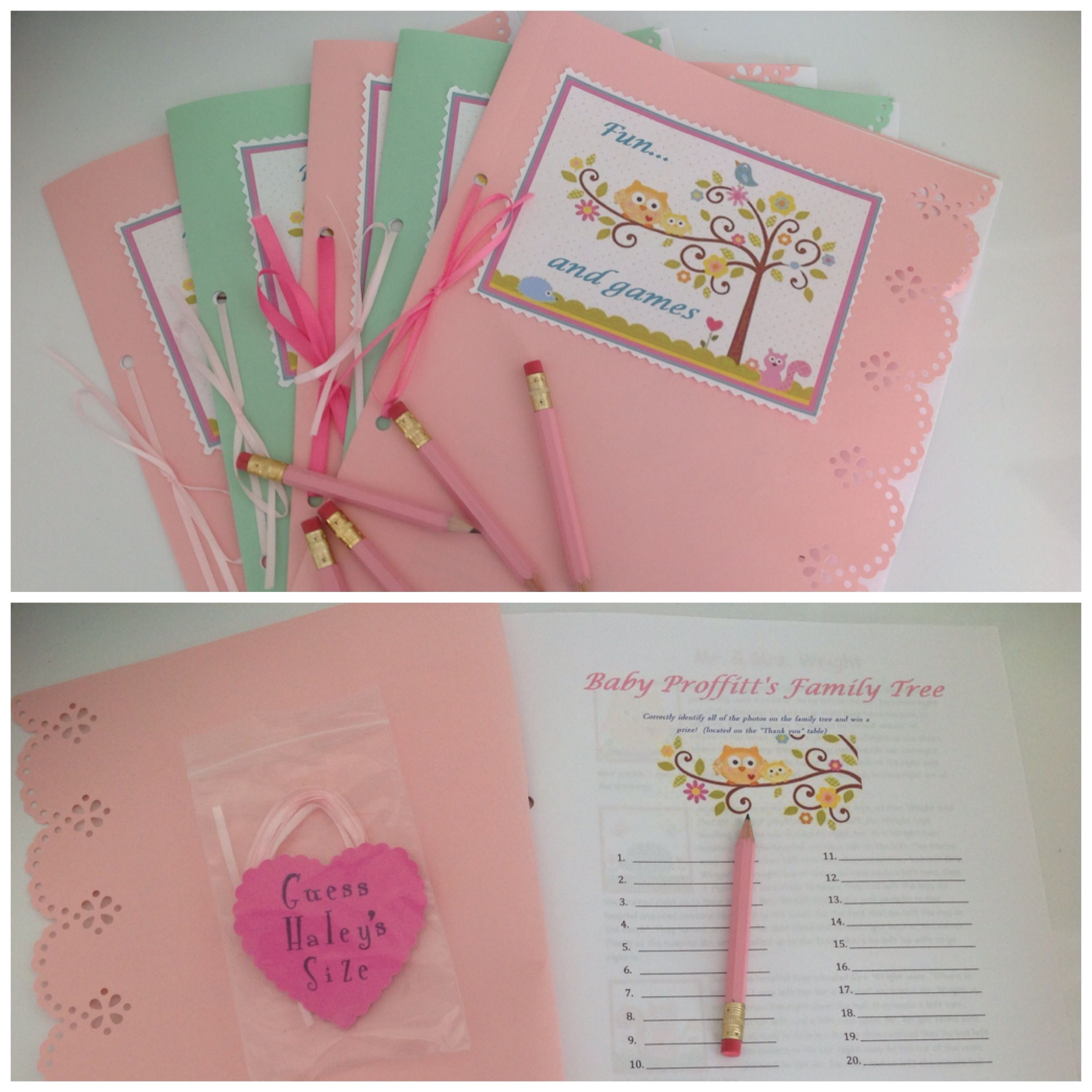 Baby Shower Game Booklet Template 301 Moved Permanently