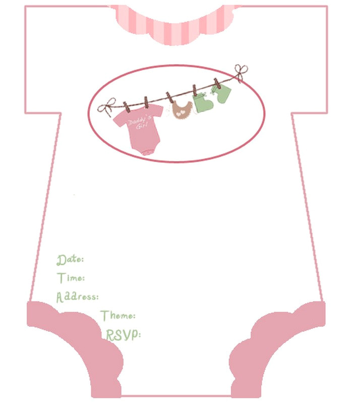 baby shower invitation free template ba shower invitation girl template luxury diaper ba shower download