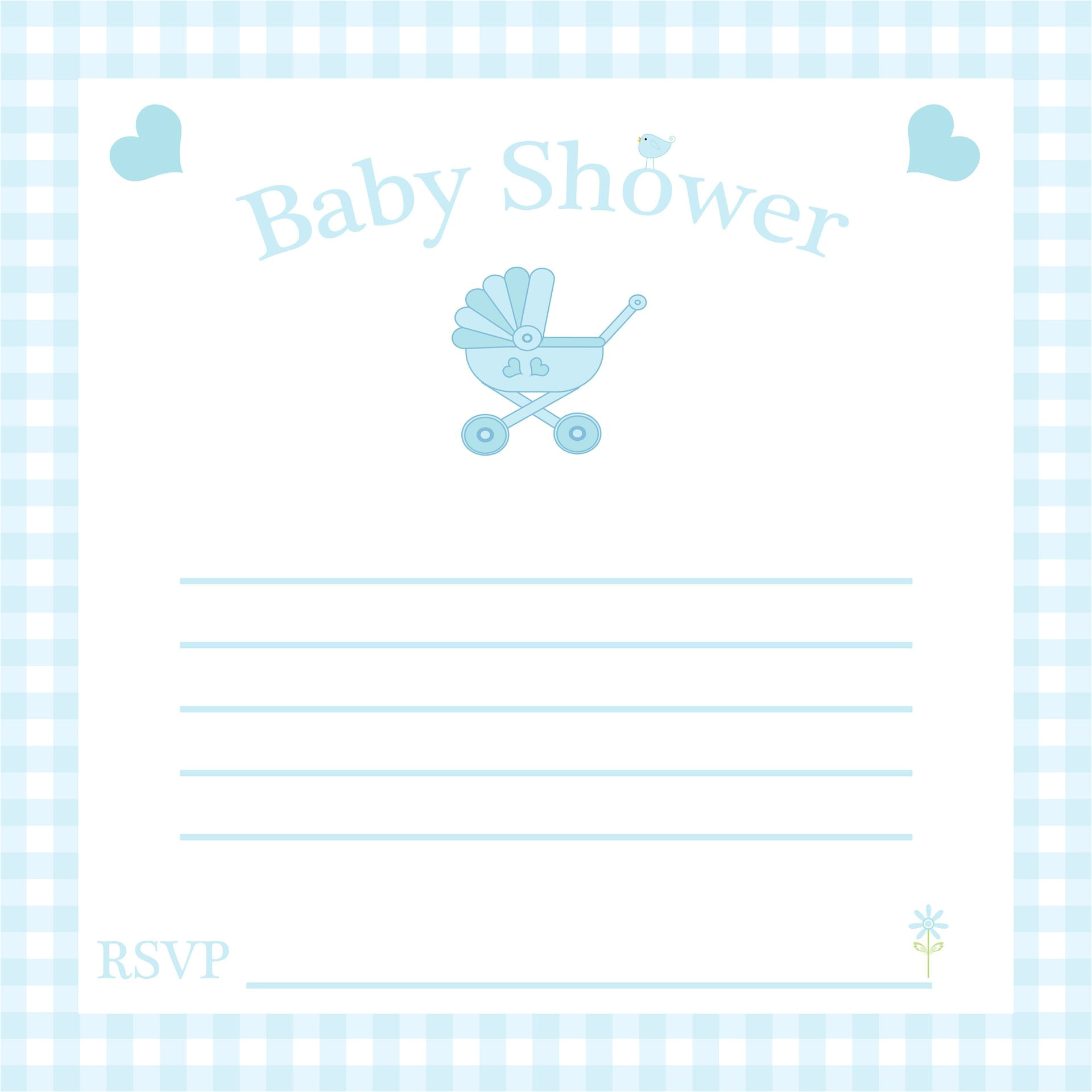 free baby invitation template