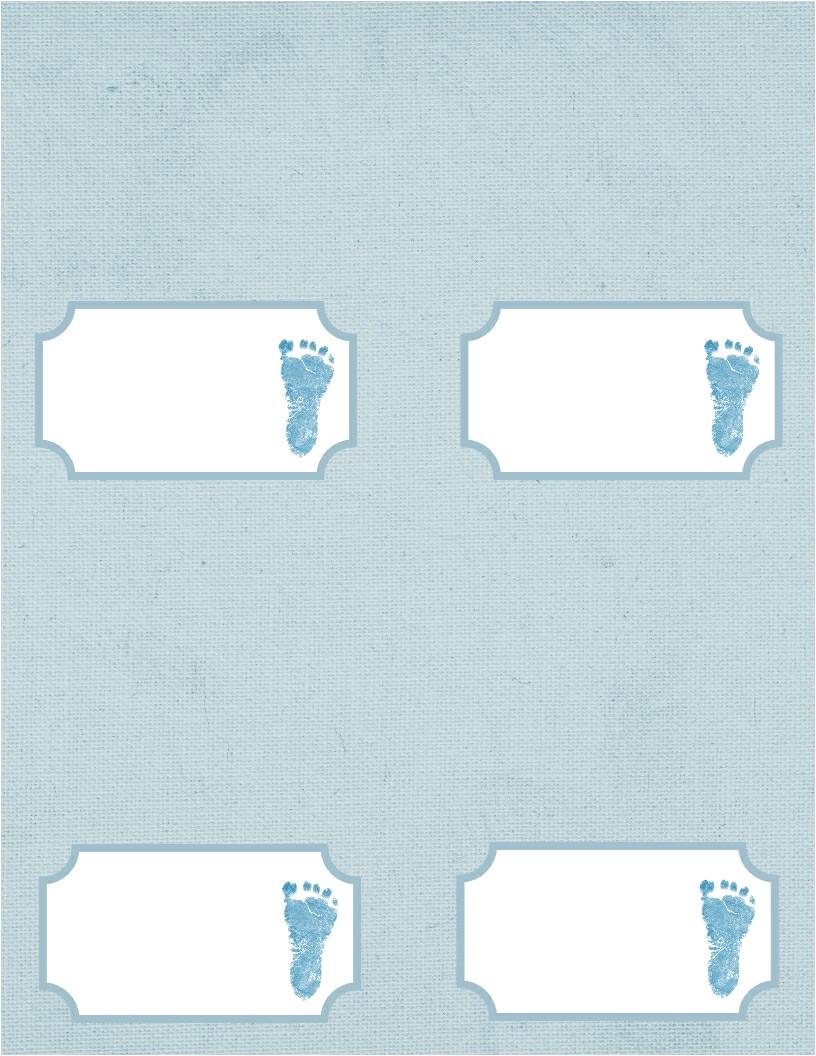 baby footprint template