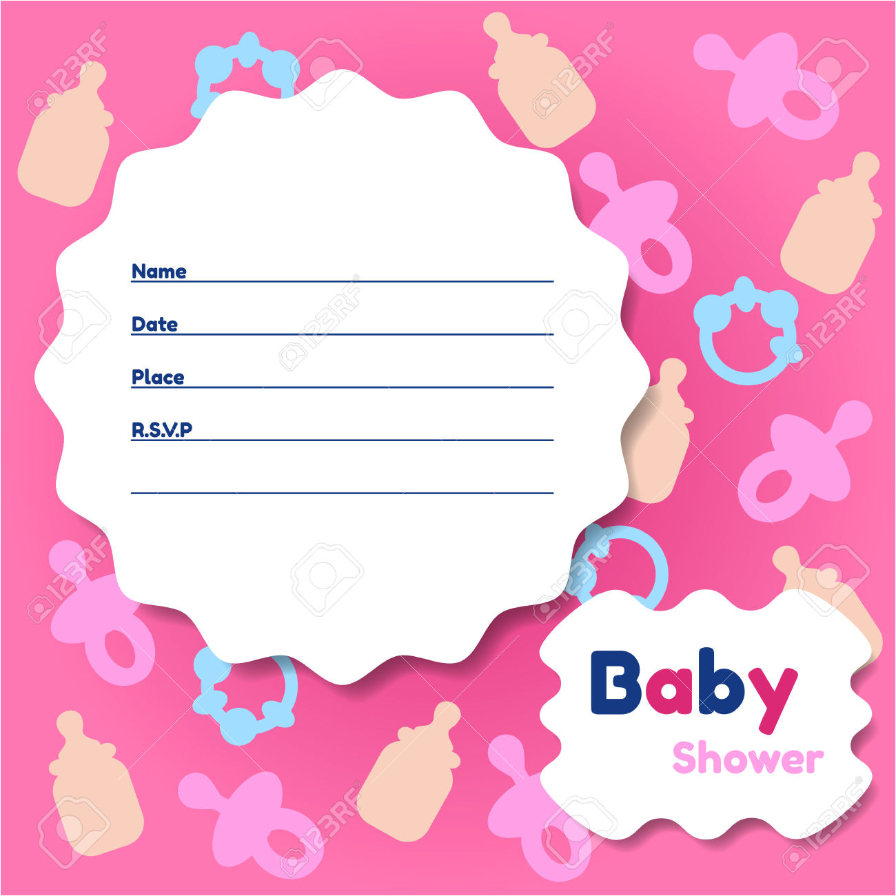 baby shower card template 2