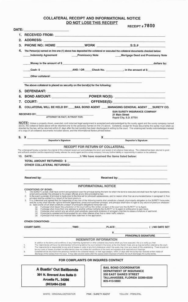 bail bond receipt template best missing receipt form template unique forms in lost declaration