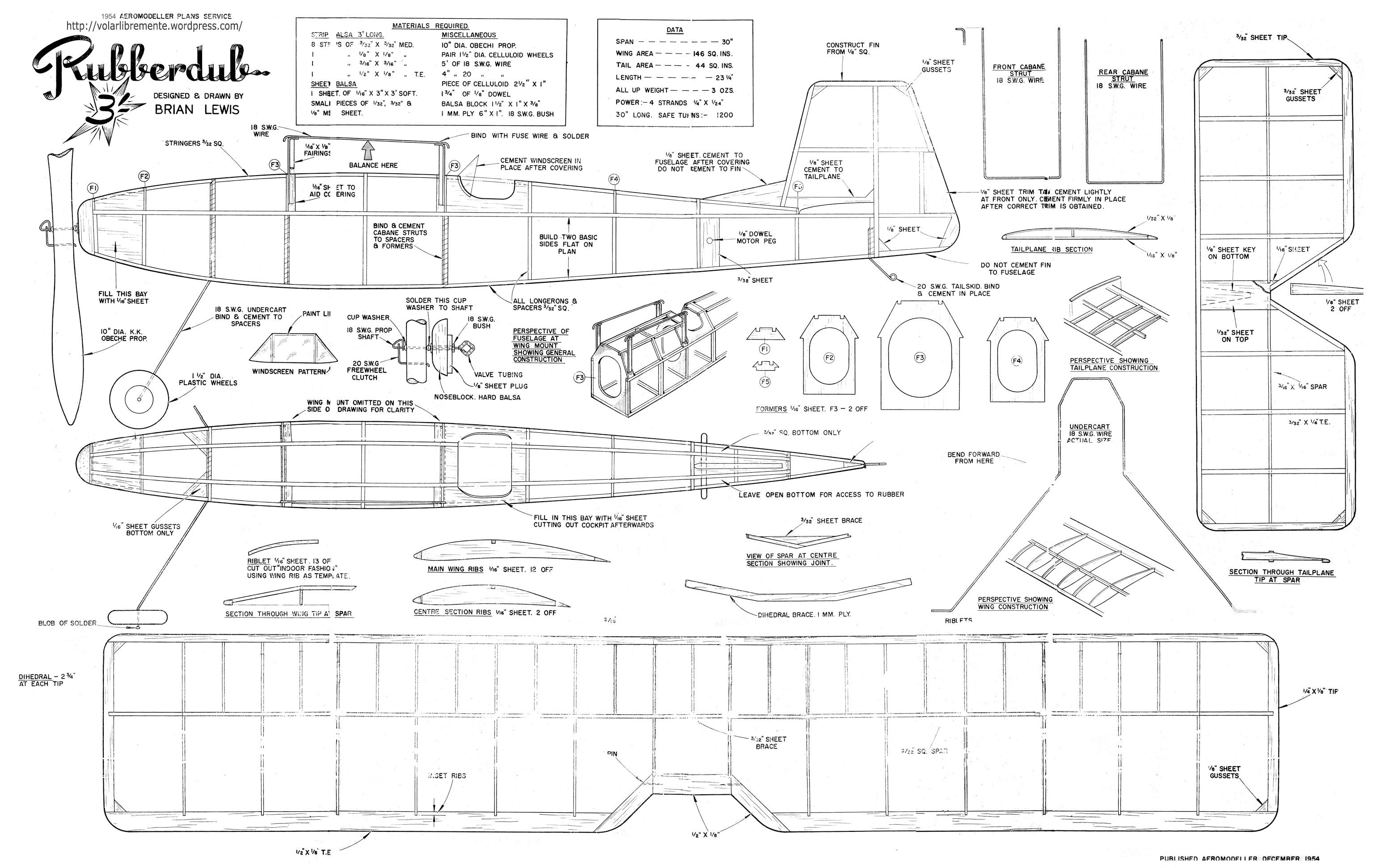 balsa wood airplane templates
