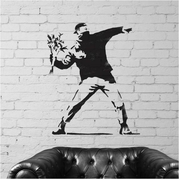 banksy flower thrower stencil 202 p