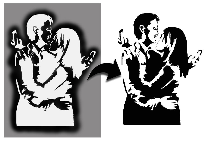 Banksy Stencil Templates Banksy Mobile Lovers Stencil Ideal Stencils