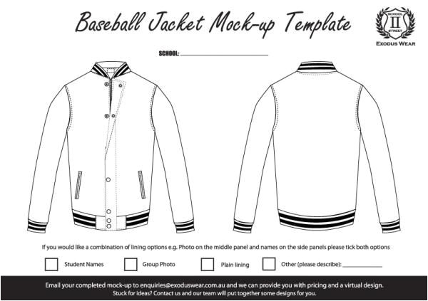 Baseball Jacket Template Baseball Jacket Template Jacketin