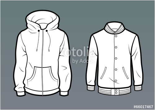 Baseball Jacket Template Quot Template Hoodie and Baseball Jacket Quot Stock Image and