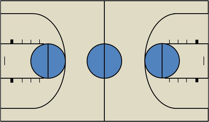post basketball court template in word 97342