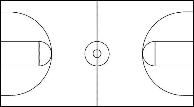 post blank basketball court template 96995