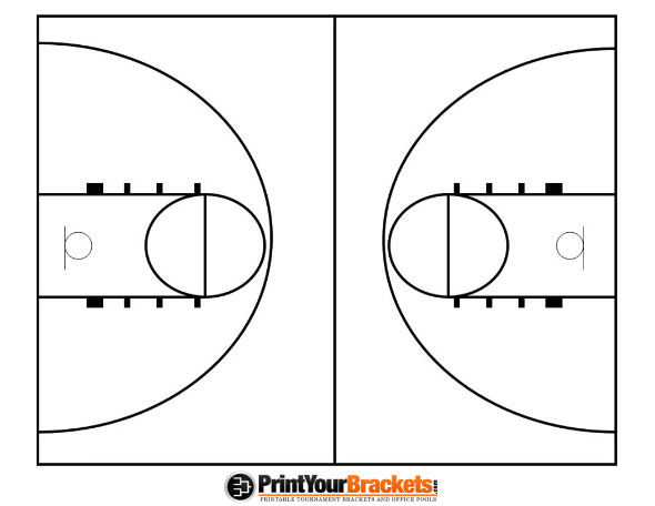 Basketball Floor Template Basketball Hoop Free Colouring Pages