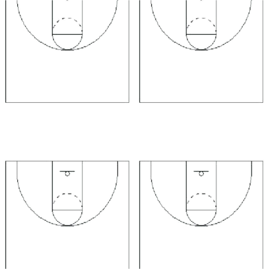 basketball floor template