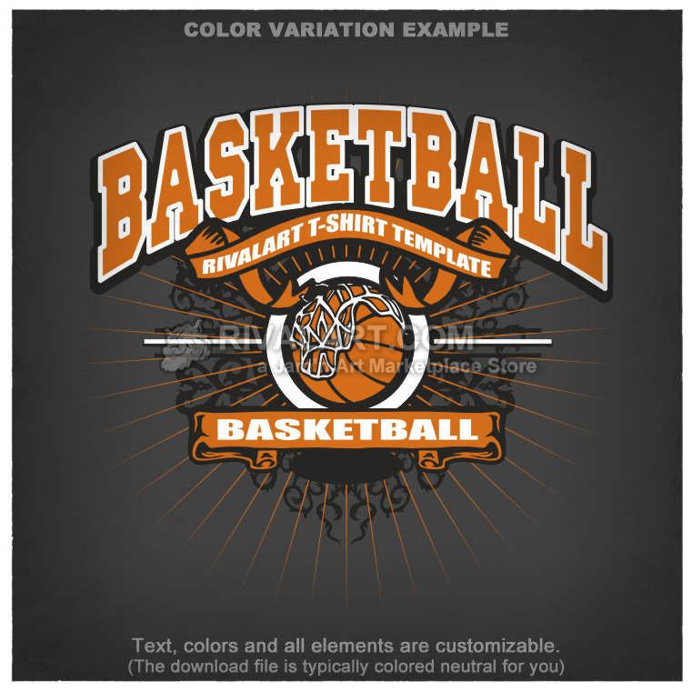 basketball t shirt design template bball 03 rq