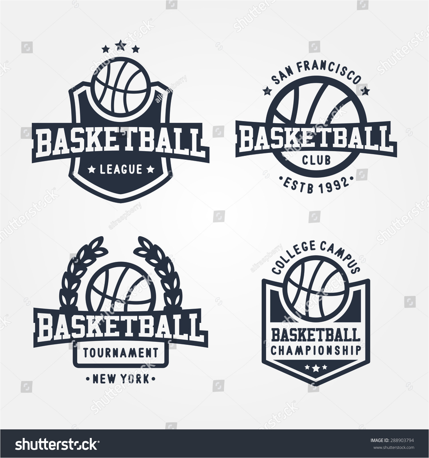 stock vector collection of sport basketball badge logo templates t shirt graphics