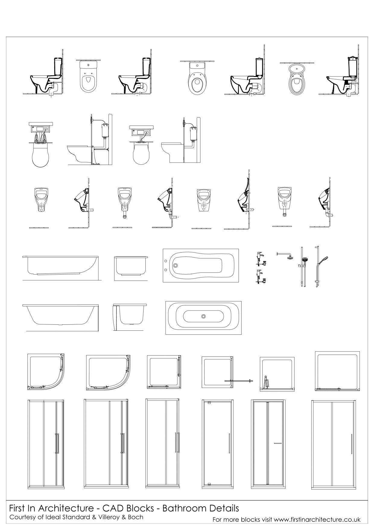 cad blocks bathroom detail mega pack