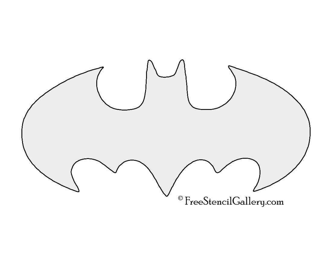 batman symbol stencil 01