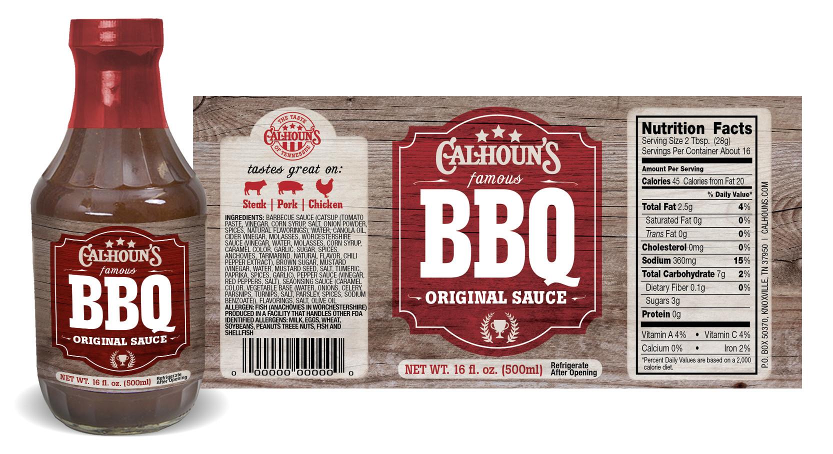 calhouns sauce labels