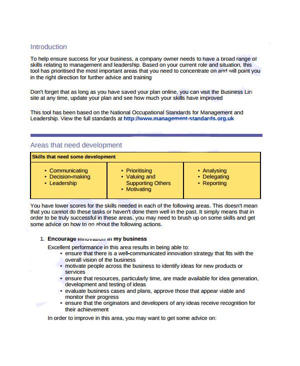 Bdc Business Plan Template 7 Business Development Plan Templates Sample Templates
