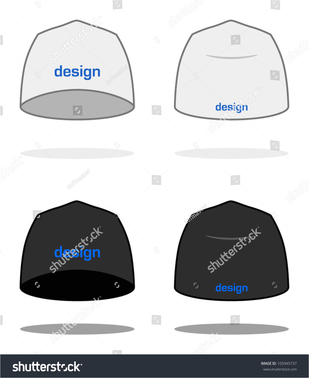 stock vector white beanie design template sample logos are easy to change to your own vector painted with