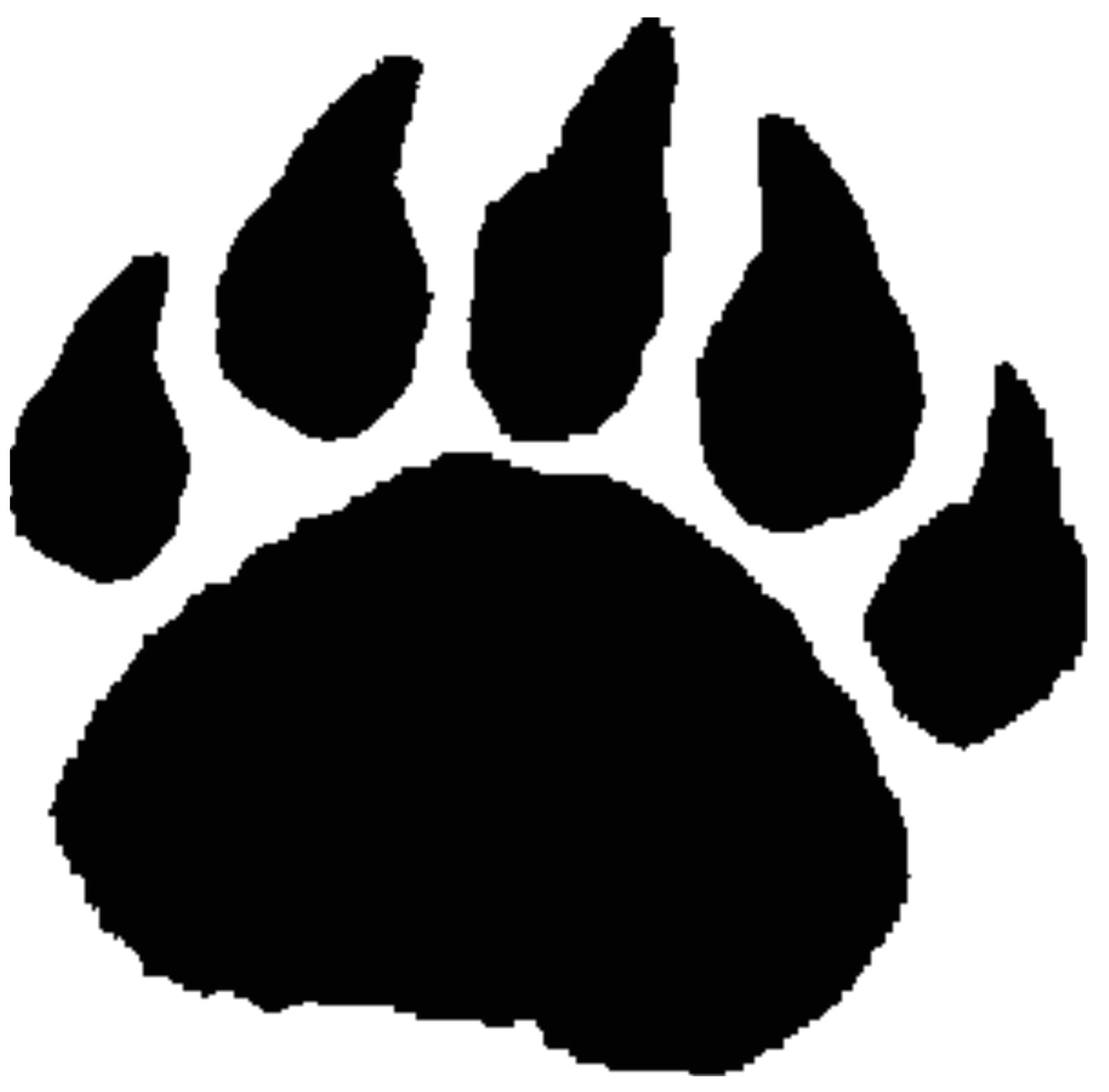 Bear Footprints Template Bear Paw Art Clipart Best