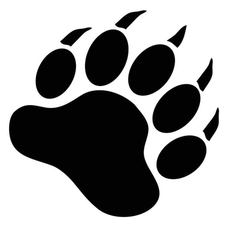 Bear Footprints Template Free Bear Paw Stencil Download Free Clip Art Free Clip