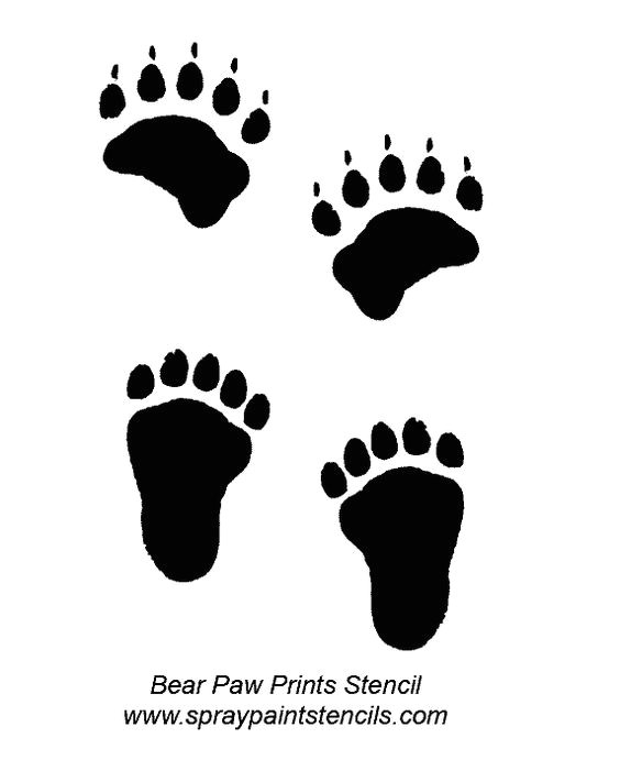 Bear Footprints Template Free Deer Print Wood Burning Patterns Bear Paw Print