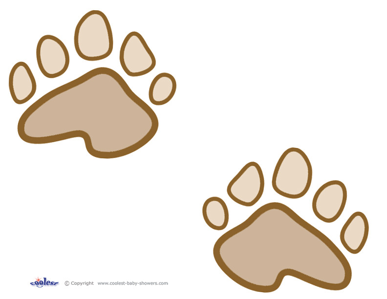 Bear Footprints Template Teddy Bear Stencil Printable